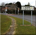 ST1379 : Radyr boundary sign and speed limit signs, Cardiff by Jaggery