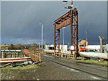 NS2975 : Bridge at James Watt Dock by Thomas Nugent