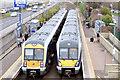 J3775 : Two trains, Sydenham station, Belfast (March 2015) by Albert Bridge
