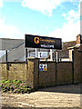 TM0378 : Gressingham sign by Adrian Cable