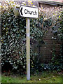 TM0276 : Road sign on Rickinghall Road by Adrian Cable