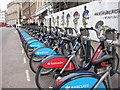 TQ3280 : Barclays and Santander bikes, Southwark Street by Oast House Archive