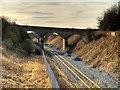 SD8232 : Disused Railway Bridge West of Barracks Station by David Dixon