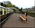 SO6107 : GWR bench at Parkend station by Jaggery
