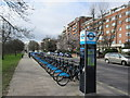 TQ2783 : Barclay's Bike Docking Station, Prince Albert Road by David Anstiss