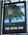 SK4280 : Sign for the Royal Oak, Mosborough  by JThomas