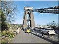 ST5673 : Clifton, bridge pylon by Mike Faherty