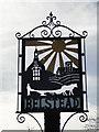 TM1340 : Belstead village sign near the village hall by Adrian S Pye