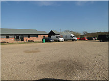 TM1440 : Car park and outbuildings at Jimmy's Farm by Adrian S Pye