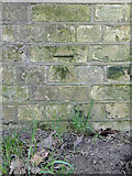 TM1542 : Benchmark on the railway arch at Bourne Park by Adrian S Pye