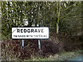 TM0477 : Redgrave Village Name sign by Adrian Cable