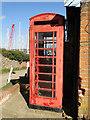 TM2844 : Shabby QE2 telephone box by Adrian S Pye