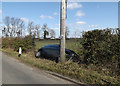 TM3568 : Accident on Rendham Road by Adrian Cable