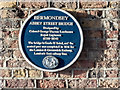 Photo of Abbey Street Bridge, London and George Thomas Landmann blue plaque