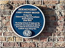 TQ3379 : Blue Plaque on Abbey Street Bridge, London SE1 by Christine Matthews