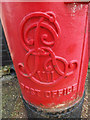 TM0475 : Royal Cypher on the Post Office Edward VII Postbox by Adrian Cable