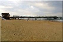 SZ1191 : Boscombe Pier and beach by Steve Daniels