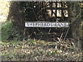 TM0776 : Shepherds Lane sign by Adrian Cable