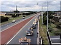SJ5697 : Manchester Taxi Drivers' Annual Convoy, East Lancs Road by David Dixon