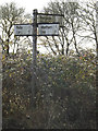 TM0875 : Roadsign on Mellis Road by Adrian Cable