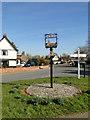 TM2866 : Dennington village sign by Adrian S Pye