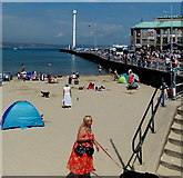SY6878 : Southern end of Weymouth Beach by Jaggery