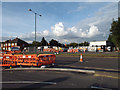 SP1482 : Lode Lane at the Land Rover works north gate, Olton by Robin Stott