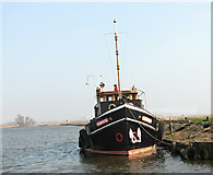 """TG3504 : The """"Liberté"""" moored on the River Yare by Evelyn Simak"""