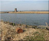 TG3504 : View towards Buckenham Ferry drainage windpump by Evelyn Simak