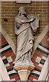 TQ2578 : St Luke, Redcliffe Gardens, Kensington - Statue by John Salmon