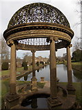 ST3505 : Forde Abbey: cupola at the end of the Long Pond by Chris Downer