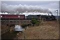 SD5071 : Steam train at Keer Bridge by Ian Taylor