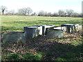TM4075 : Old Water Tanks by Keith Evans