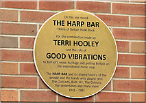 J3474 : Harp Bar punk rock plaque, Belfast (March 2015) by Albert Bridge