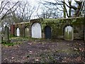 SP0588 : Key Hill Cemetery - Blocked Catacomb entrances by Rob Farrow