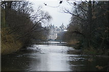 TQ2979 : View of government offices in Horse Guards Parade from the end of St. James's Park Lake by Robert Lamb