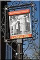 TQ7825 : Castle Inn inn sign by Philip Halling