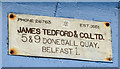 J3474 : James Tedford plate, Donegall Quay, Belfast (March 2015) by Albert Bridge
