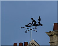 SX9265 : Wind vane  on Babbacombe Downs Road by Ian S