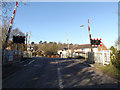 SU5766 : Station Road & Midgham Level Crossing by Adrian Cable