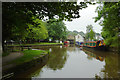 SK0181 : Peak Forest Canal at Whaley Bridge, Derbyshire by Roger  Kidd