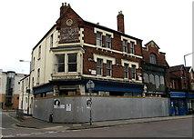 SU1484 : Fenced-off Faringdon House, Swindon by Jaggery
