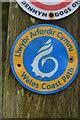 SH5184 : Wales Coast Path Logo, Traeth Bychan by N Chadwick