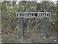 TM2483 : Rushall Road sign by Adrian Cable