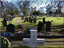 SK5802 : Gravestones at Welford Road Cemetery by Mat Fascione