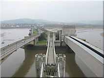 SH7877 : 3 Bridges across the Conwy Estuary by G Laird