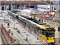 SJ8499 : Tram at Victoria Station by David Dixon