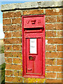 TM2283 : Crossroads Victorian Postbox by Geographer