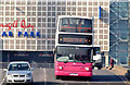 J3474 : Bus on the Queen Elizabeth Bridge, Belfast (March 2015) by Albert Bridge