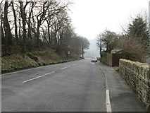 SE0419 : Ripponden New Bank - viewed from Elland Road by Betty Longbottom
